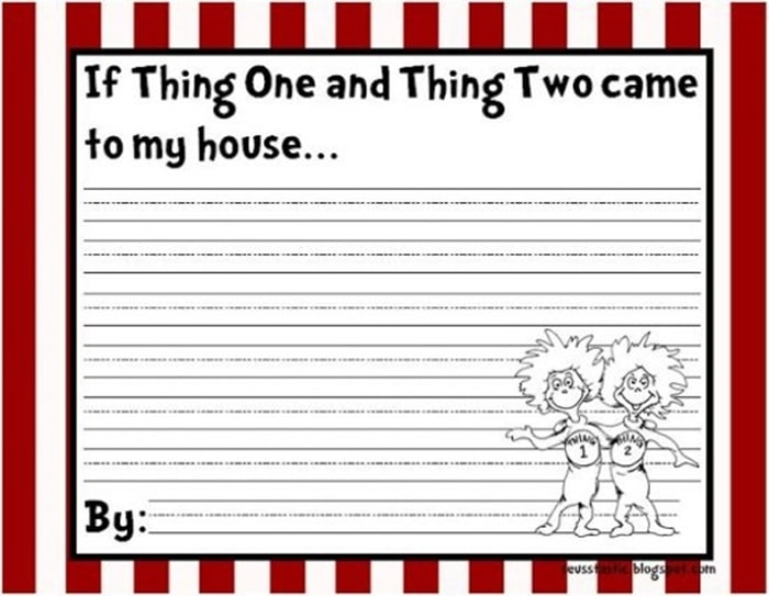 31 Ideas for Read Across America and Dr. Seuss - activity based on Fox in Socks