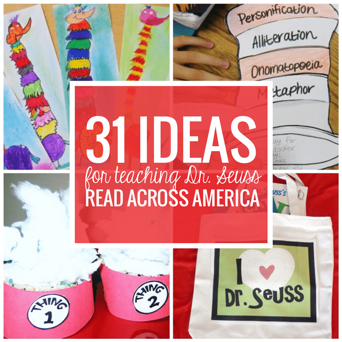 c9f9dce0 31 Ideas for Read Across America and Dr. Seuss Activities