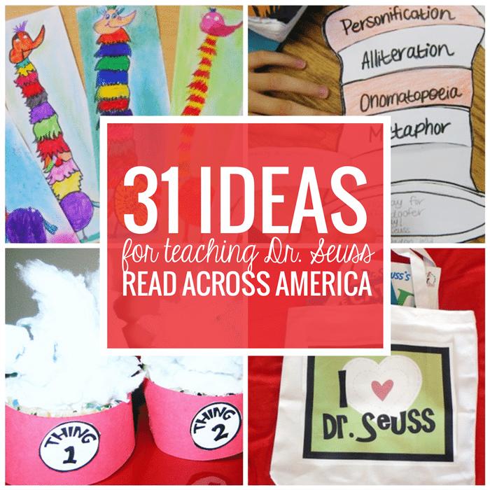 31 Ideas for Read Across America - Teach Junkie