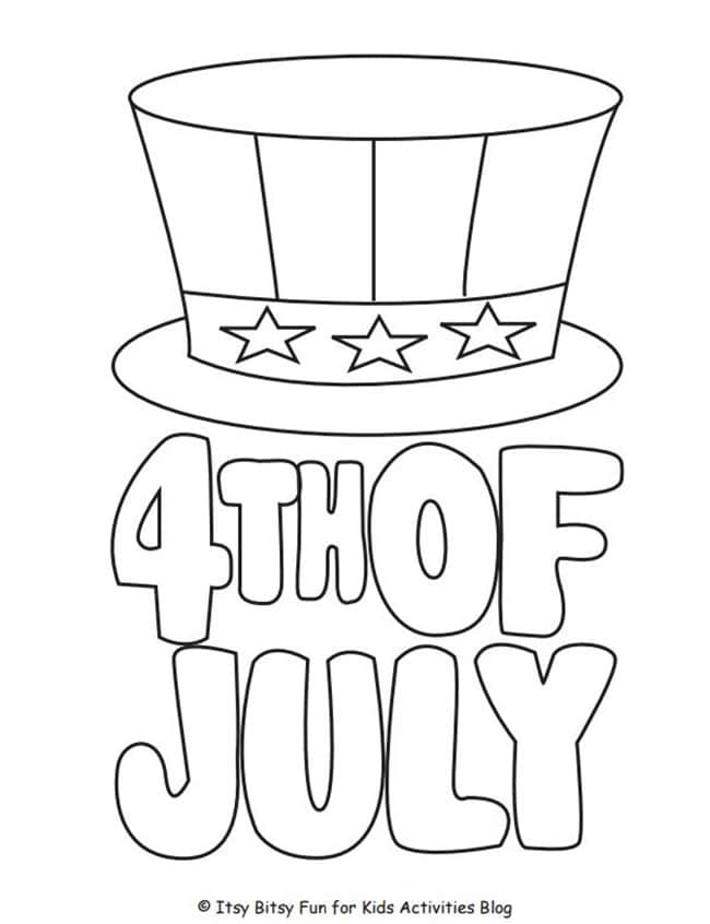 4th of July Coloring Printable - Teach Junkie -  8 Fast and Friendly Patriotic Freebies