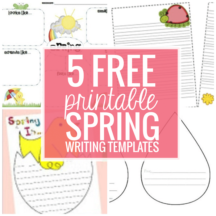 5 Free Printable Spring Writing Templates