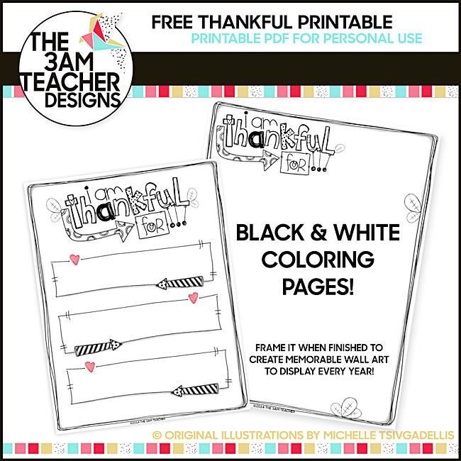 54 Fantastic Fall Thanksgiving Freebie - Thankful Writing Template - Teach Junkie