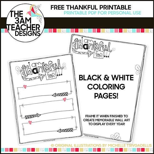 54 Fantastic Fall Thanksgiving Freebie - Thankful Writing Template - Teach Junkie