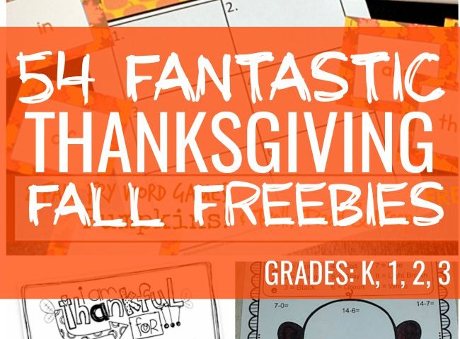 54 Fantastic Fall and Thanksgiving Freebies