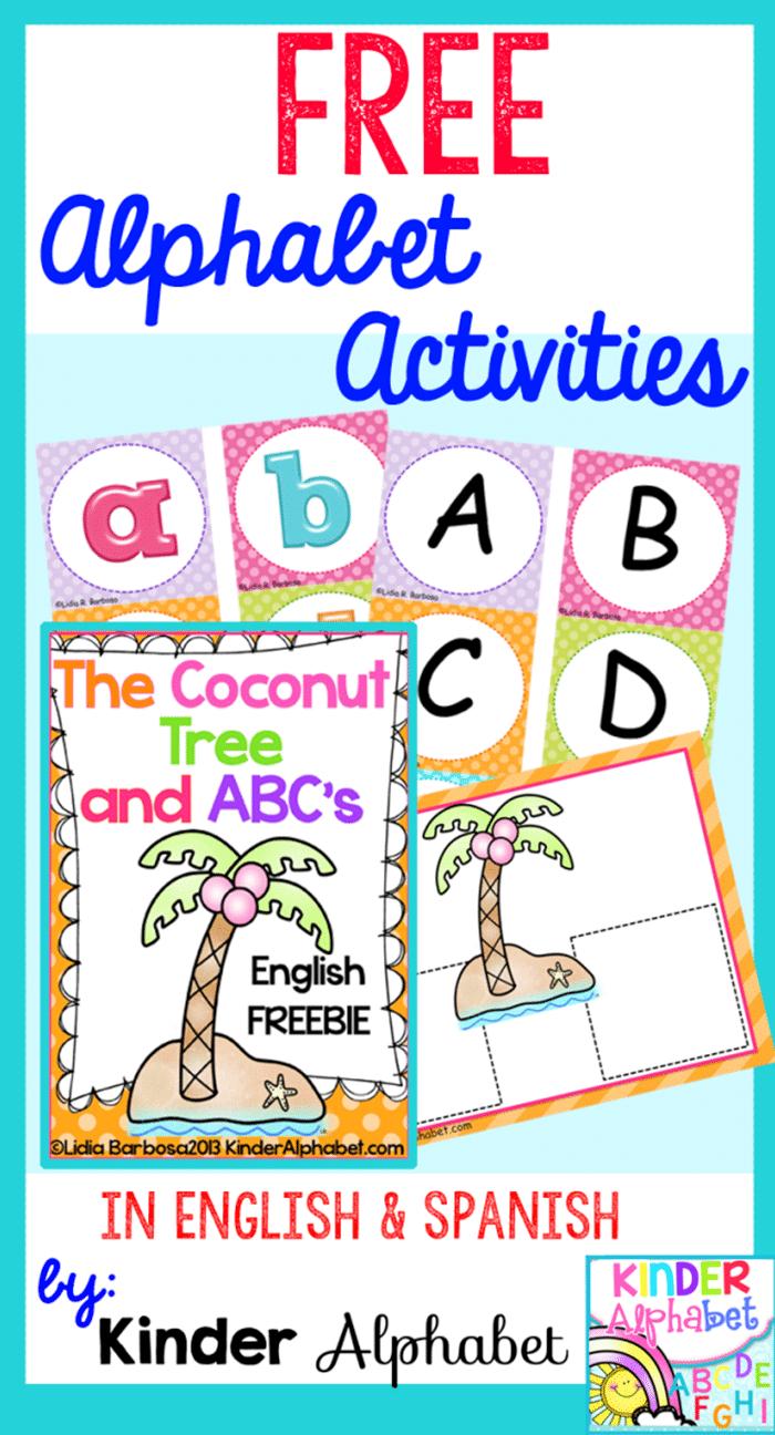 6 Back to School Freebies - Chicka chicka Boom Boom alphabet activities
