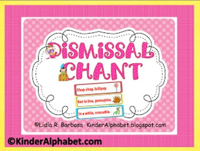 6 Back to School Freebies - Dismissal Chant