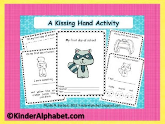 6 Back to School Freebies - Kissing Hand Activity