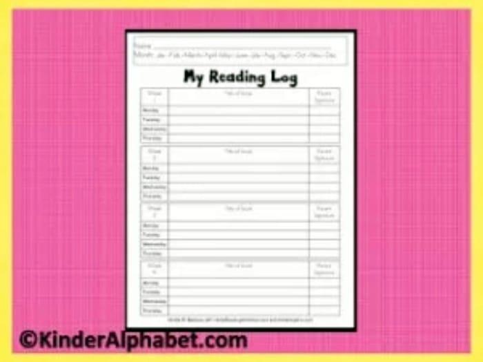 6 Back to School Freebies - My Reading Log