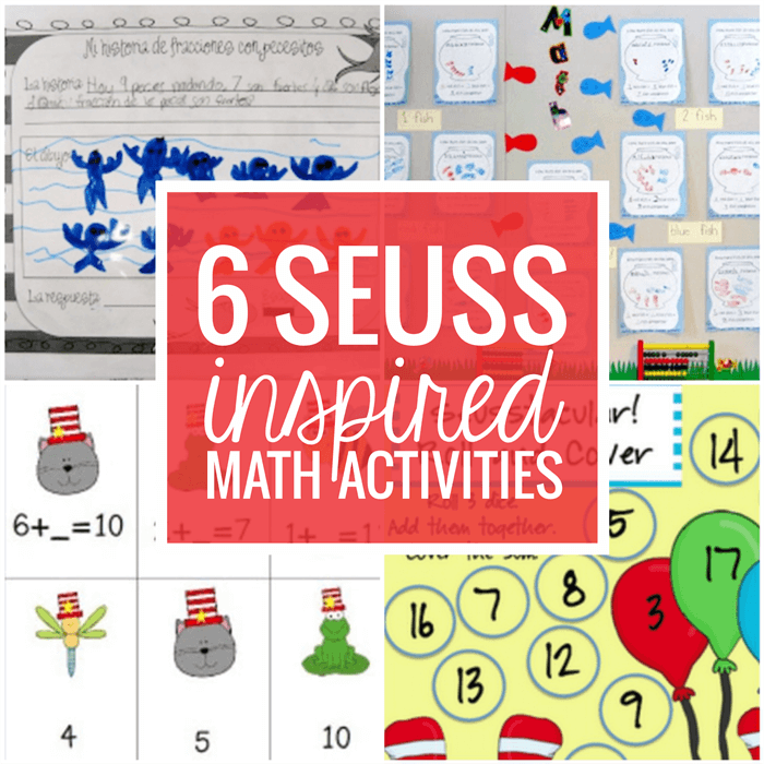 6 Dr. Seuss Inspired Math Activities
