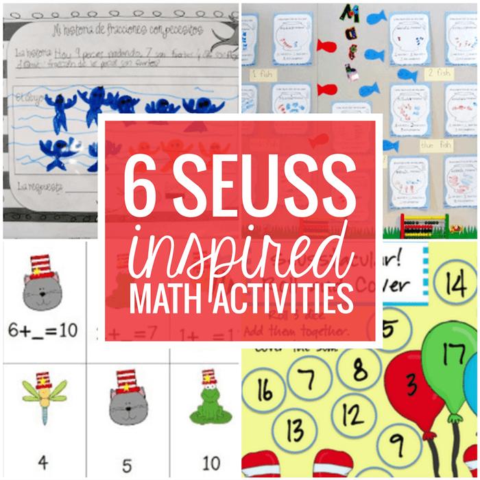 6 Dr. Seuss Inspired Math Activities