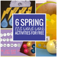 6 Spring ELA Word Work Activities