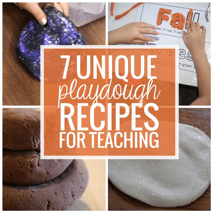 7 Unique Playdough Recipes for Teaching