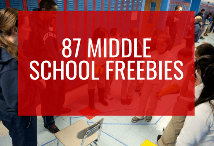 87 Middle School Freebies