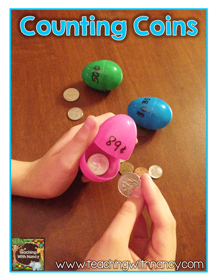 9 Lesson Plans for Your Leftover Easter Eggs - Counting Coins - Teach Junkie