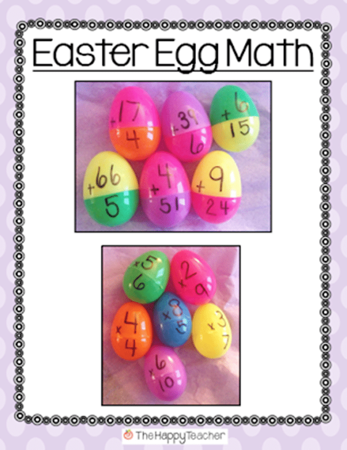 9 Lesson Plans for Your Leftover Easter Eggs - Create Your Own Math Problems - Teach Junkie