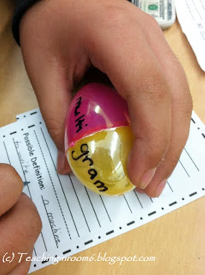 9 Lesson Plans for Your Leftover Easter Eggs - Root Words Game - Teach Junkie
