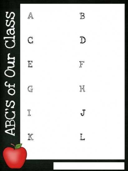 Back to School Classroom ABC's: Parent Classroom Forms - Teach Junkie