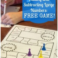 Free Add Subtract Large Numbers Game Board