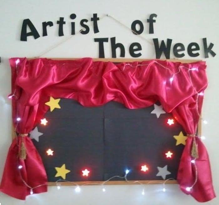 Adorable Bulletin Board Idea: Artist of the Week