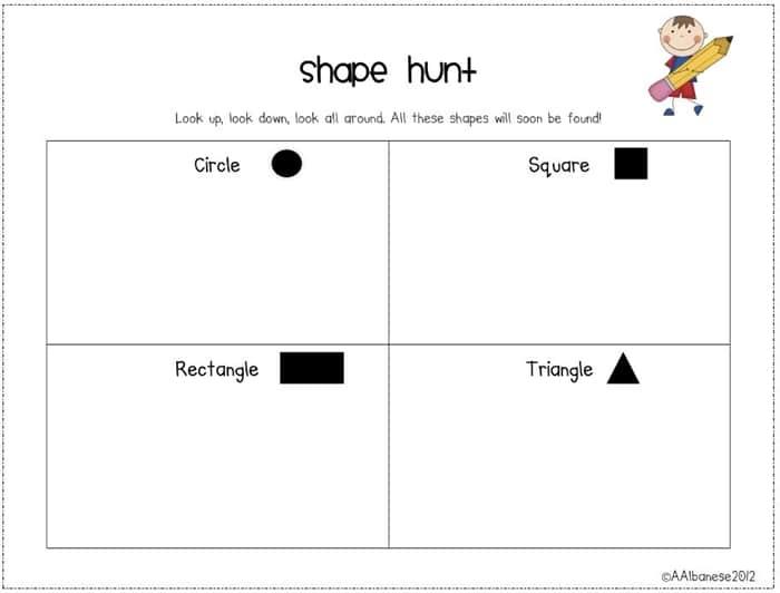 e5f470b99 All About 2D Shapes! Go on a shape hunt freebie
