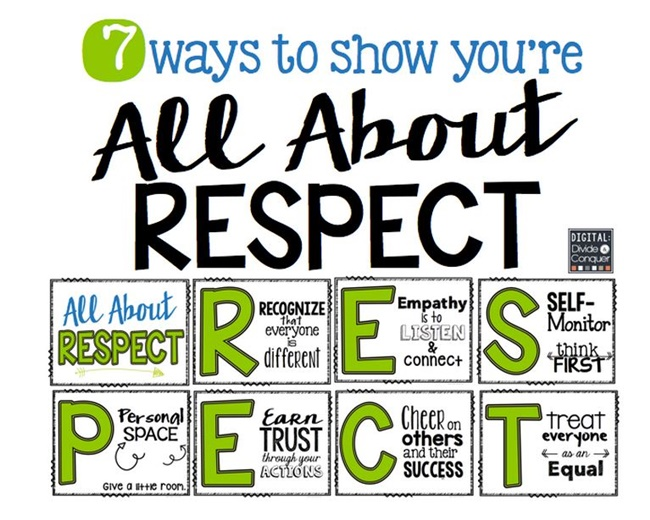 All About Respect - Collection Free Classroom Posters - Teach Junkie