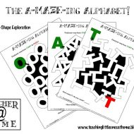 Alphabet Letter Mazes from A-Z
