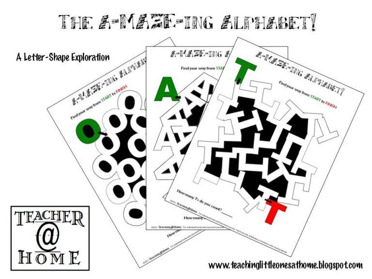 Alphabet Mazes free download printables
