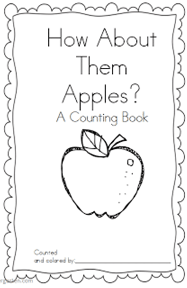 Apple Counting and Coloring booklet