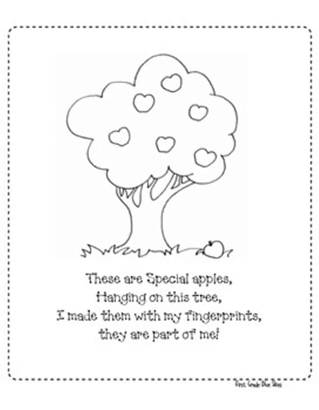 Apple Finger Poem