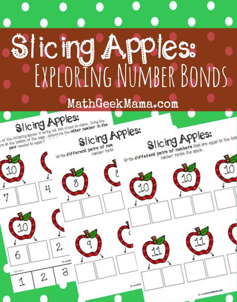 Exploring Number Bonds with Apple Slices - Teach Junkie