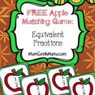 Free Apples Equivalent Fractions Matching Game