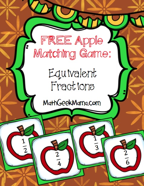 Apples Matching Equivalent Fractions