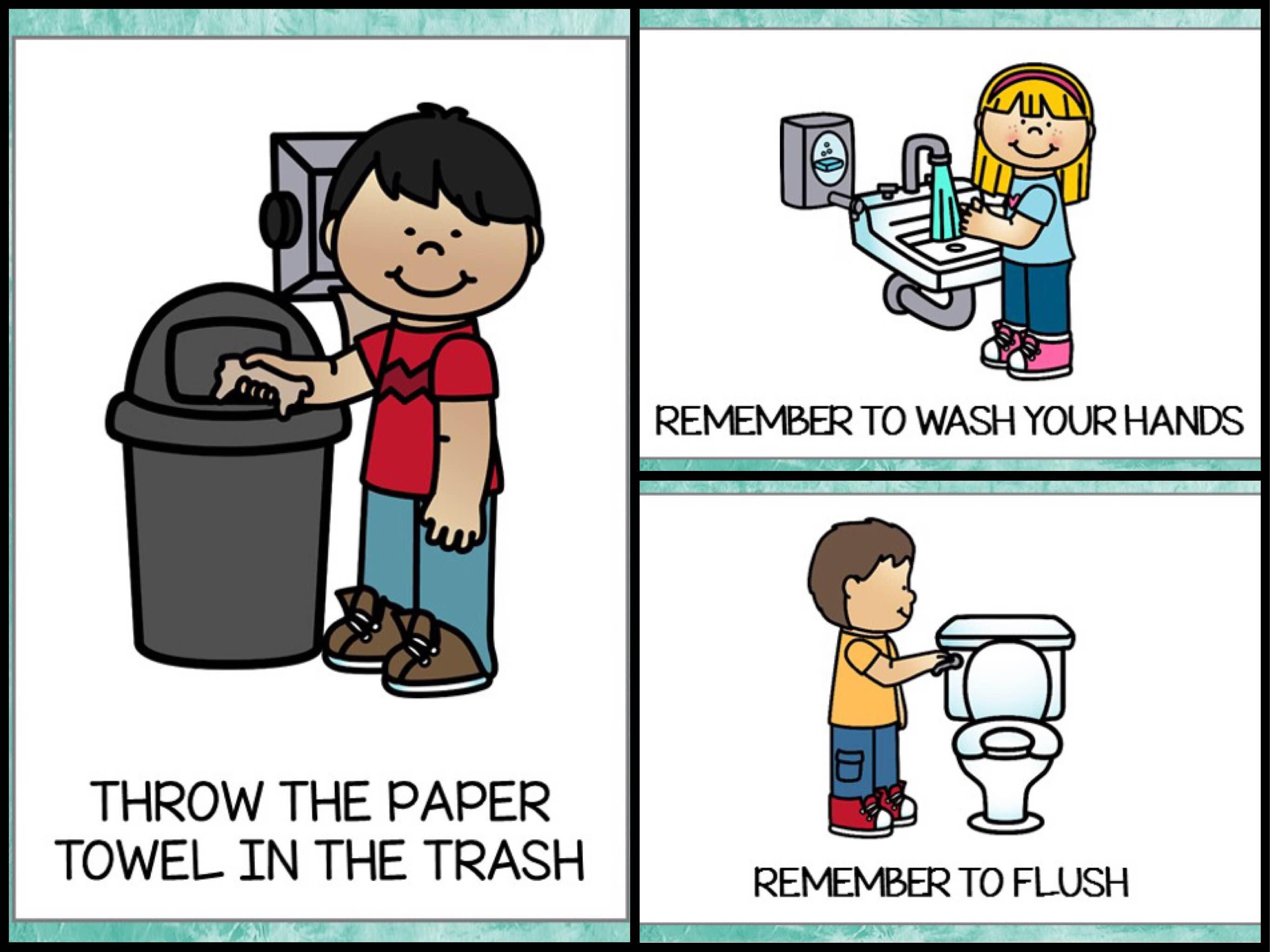 Bathroom Posters Teach Junkie