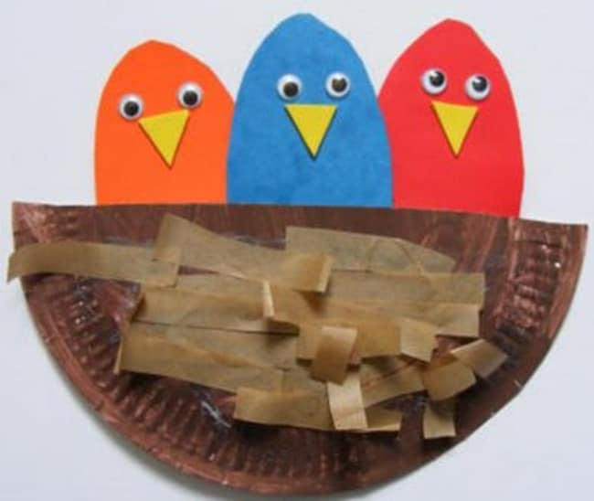 Spring Themed Crafts DIY Birds Nest - Teach Junkie