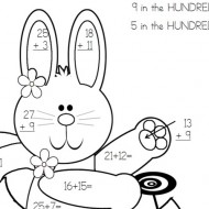 Place Value Easter Bunny Color By Code