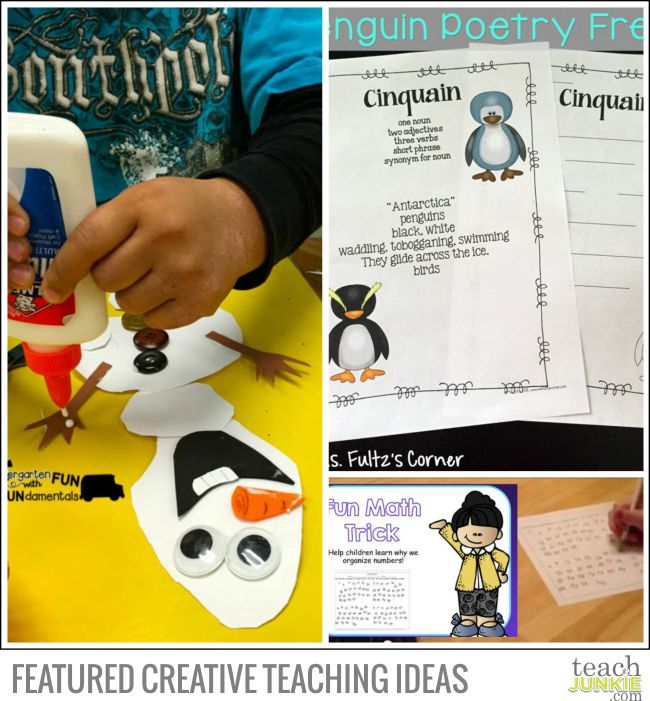 Creative Teaching Ideas - Olaf Math Craft, Penguin Poetry, Counting to 120 Math Trick - Teach Junkie