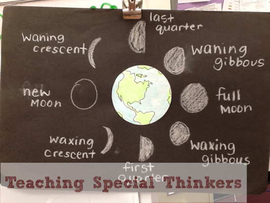 21 Super Activities for Teaching Moon Phases - Chalk Art Moon Phases - Teach Junkie