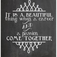 Chalkboard Quote: Teaching Career and Passion