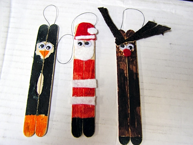 Classic Popsicle Stick Ornaments
