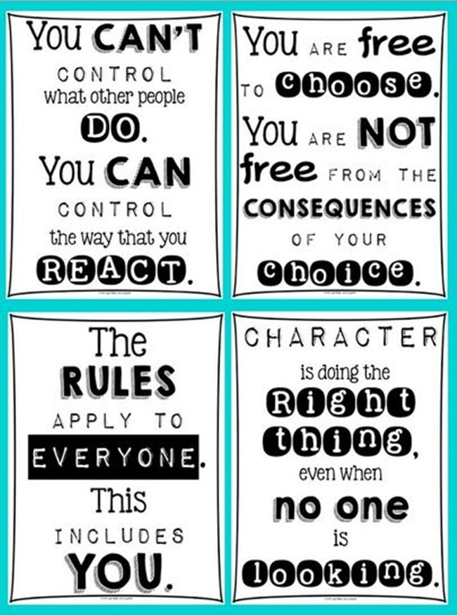 photo relating to Classroom Rules Printable called 27 Clroom Poster Sets: Cost-free and Great - Practice Junkie
