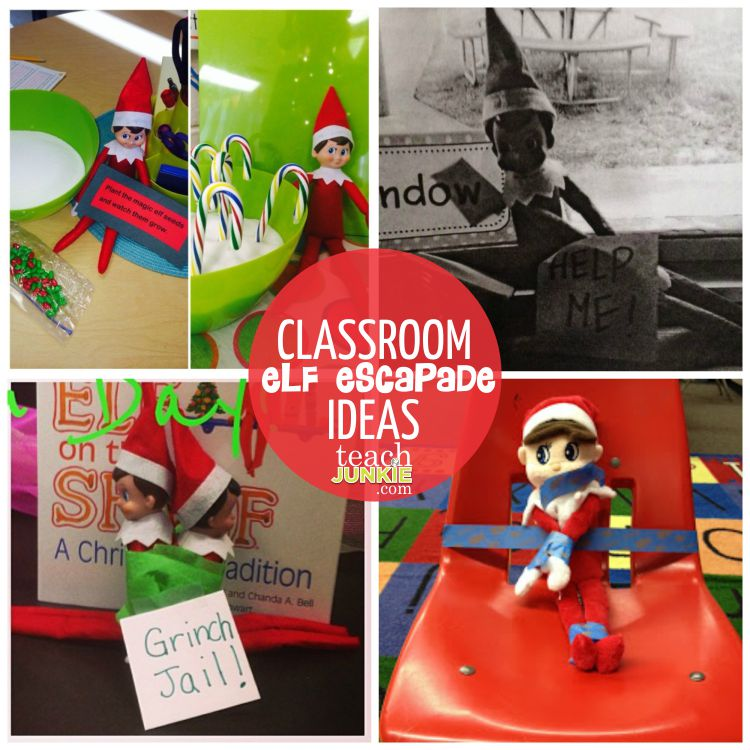 Classroom Elf Escapade Ideas - TeachJunkie.com