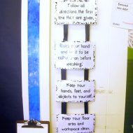 Classroom Rules... and a freebie - rules hung up with ribbons
