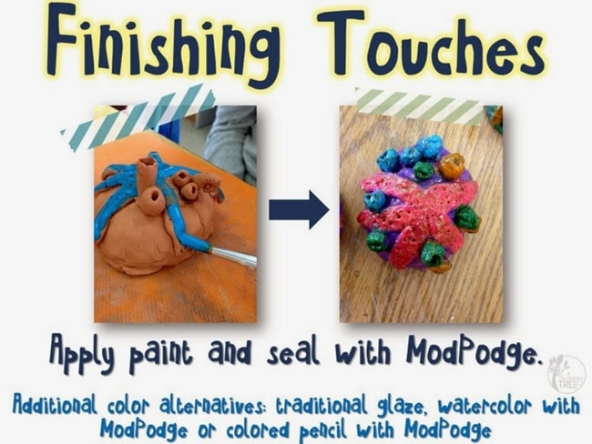 Colorful Ceramic Clay Coral Reefs Art Project - Teach Junkie