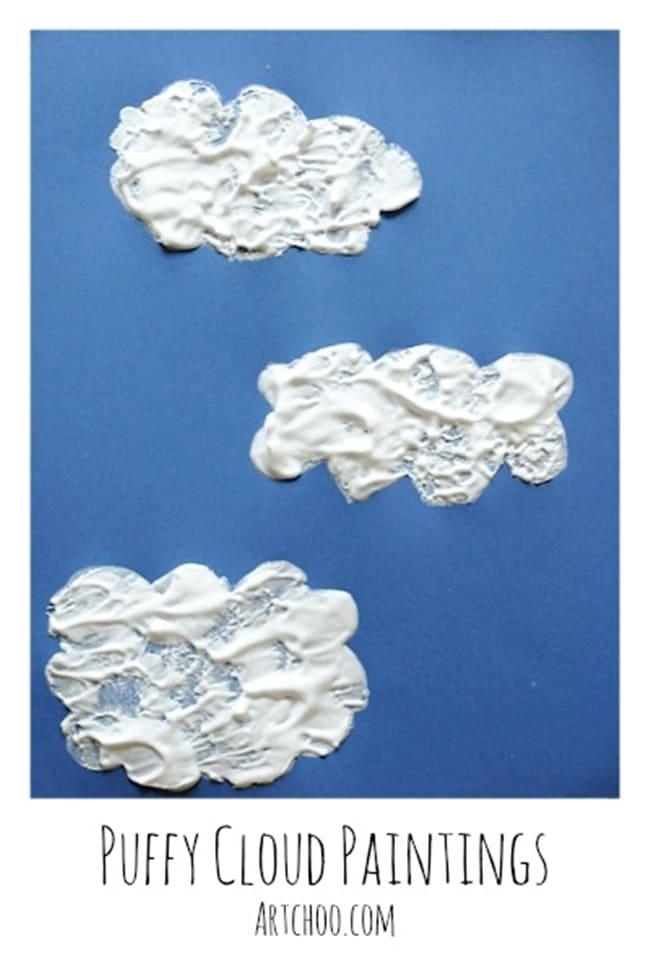 Clouds for Kids 23 Smart Ideas Puffy Shaving Cream Clouds Teach Junkie