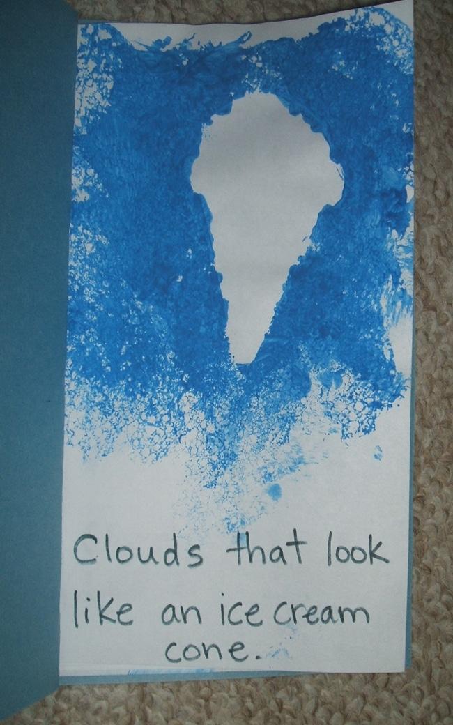 Clouds for Kids 23 Smart Ideas Reverse Cloud Print Class Book Teach Junkie