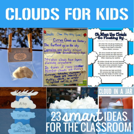 Clouds for Kids 23 Smart Ideas for the Classroom - Teach Junkie