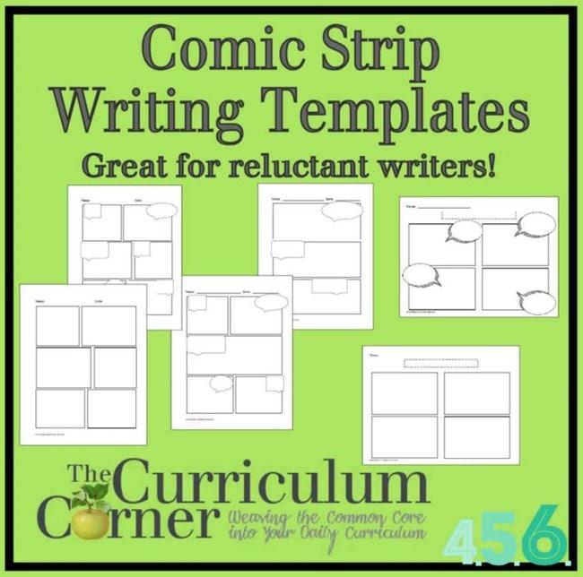 3 Ways to Use a Comic Strip Writing Template - Teach Junkie