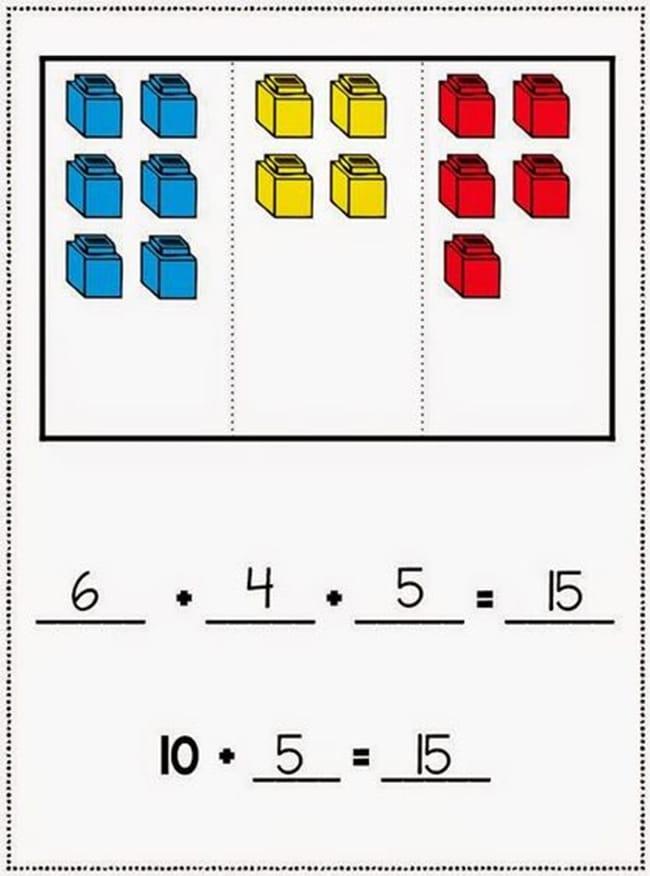 Common Core Math - 3 Addend Addition Workmats - Teach Junkie