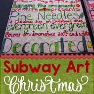 Covered in Glitter – Subway Art Christmas Coasters