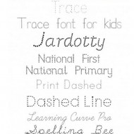 6 Free Tracing Fonts for Kids